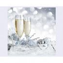 Servetter 'Champagne' 20-tal, 3-skikt 33x3