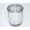 'Hópehely' lámpásüveg, ezüstözött