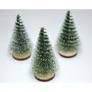 3 db fenyőfa készlet, mindegyik 8x4,5 cm, fa koron