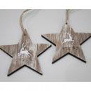 Drewniane wieszaki w kształcie gwiazdy, zestaw 2 s