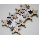 Star wood clips set of 8, designs assorted