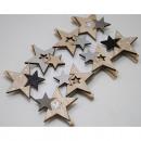 Juego de 8 clips de madera estrella, diseños surti