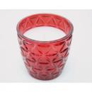 Czerwona szklana konstrukcja latarni, w tym biała