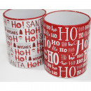 grossiste Tasses & Mugs: Tasse à café 'HoHoHo' 300ml, 9x8cm rouge /