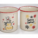 wholesale Household & Kitchen: Coffee mug 'Let it snow' 9x9cm ...