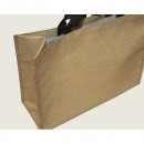 wholesale Handbags: Shopper bag XL 44x33cm made of PP, gold glitter