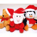 Großhandel Puppen & Plüsch: Plüsch Teddy, Santa oder Pinguin XL 8x6,5x5cm