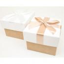 Gift box 'satin bow' 11x11x9cm