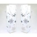 hurtownia Torby & artykuly podrozne: Torba prezentowa śnieżynka biała butelka 35x10cm