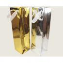 hurtownia Torby & artykuly podrozne: Torba prezentowa metaliczna butelka 35x10cm