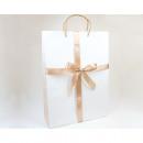 Gift bag 'satin bow' XL 35x25cm