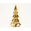 Porcelain fir 10x6cm gold chrome-plated, glossy