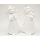 Porcelán angyal fényes fehér 8,5x5cm