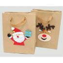 Ajándék táska 'Kraft paper Santa / Elk' 15