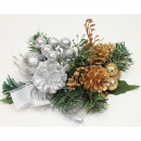 wholesale Home & Living: Decorative bouquet 20x14cm gold and silver assorte