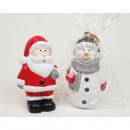 Mikołaj bez bałwana wykonany z ceramiki 9x5cm w wi