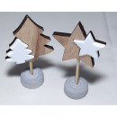 Christmas tree without star 12x7x3,5cm with cerami