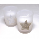 wholesale Decoration: Scented wind lens 6,5x5,5cm with glitter star