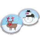 groothandel Speelgoed: Pocketwarmer eland en sneeuwpop ronde vorm