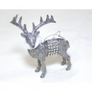 wholesale Fashion & Apparel: Moose 12x11x5cm with soft scarf made of synthetic