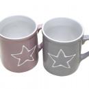 Kávé bögre 'white star' 11x9x8cm, 350ml