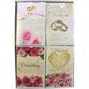 Card wedding 17.5x11.5cm assorted