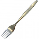 wholesale Cutlery: Metal fork with rose motif