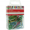 Office clips 100pcs colorful in PVC-BOX each 2,8cm