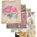 Gift bag rose medium 4-fold