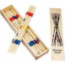 wholesale Toys: Mikado play in wooden box 19,5x4,5cm