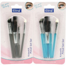 wholesale Garden & DIY store: Cosmetic brush Elina XL 10cm set of 5 on card