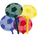 Fly swatter football yellow, red, blue, black
