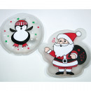 Taschenwärmer Santa oder Pinguin 12x12cm