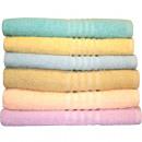 wholesale Other: Wash / Soap cloth BW 30x30cm 6 pastel colors sort