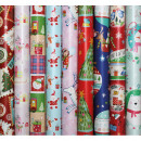 Gift paper roll Christmas motives children
