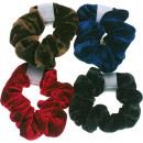 grossiste Accessoires cheveux: Haarzopfband velours couleur 9.5cm assorti