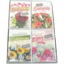 Großhandel Glückwunschkarten: Karte Geburtstag Blumen-Motiv 17x11,5cm