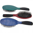 Hairbrush massage oval 22cm with rubber reef