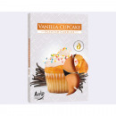 Tealight scent of 6 vanilla biscuits, in decorativ
