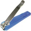 Großhandel Maniküre & Pediküre: Nagelknipser Fuß 8,5cm mit Auffangbehälter blau