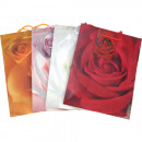 Gift bag Rosenmotive medium, 23x18cm sortier