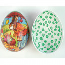 wholesale Decoration: Easter egg for filling 12,5x8,5cm painted in a var