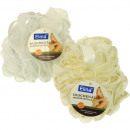 Bath sponge shower knot 40g gold & silver edge