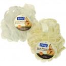 wholesale Shower & Bath: Bath sponge shower knot 40g gold & silver edge