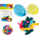 wholesale Toys: Water bomb 50pcs 9cm 5 colors assorted