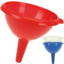 wholesale Kitchen Gadgets: Funnel 12 x 13.5cm 3 colors assorted from Kusto