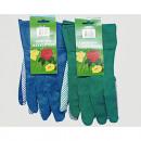 wholesale Garden Equipment: Gardening gloves men green and blue