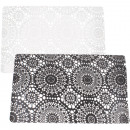 wholesale Table Linen: Placemat 44x28cm black / white circle design