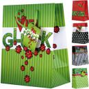 Großhandel Verkleidung & Kostüme: Geschenktasche mittel Marienkäfer 18 x 22 x 10cm