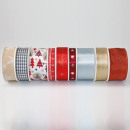 wholesale Gifts & Stationery: Christmas gift ribbon assorted without Display